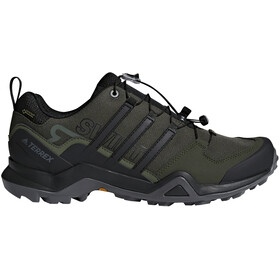 adidas TERREX Swift R2 Gore-Tex Hiking Shoes Waterproof Men, real teal/core black/solar slime